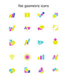 Collection of vector abstract flat logo with arrows Stock Photos