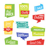 Collection of Vector Abstract Label, Sticker, Tags Stock Photos