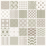 Collection of vector abstract seamless compositions. Best for use as wrapping papers, symmetric ornate backgrounds created with simple geometric shapes Stock Photo