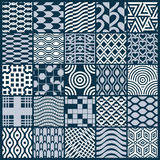 Collection of vector abstract seamless compositions, symmetric o Stock Photo