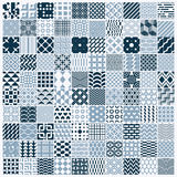 Collection of vector abstract seamless compositions, symmetric o Stock Images