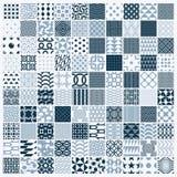 Collection of vector abstract seamless compositions, symmetric o Stock Photos