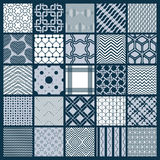 Collection of vector abstract seamless compositions, symmetric o Royalty Free Stock Photography