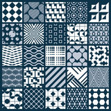 Collection of vector abstract seamless compositions, symmetric o Stock Photography