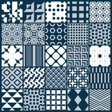 Collection of vector abstract seamless compositions, symmetric o Stock Image