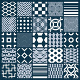 Collection of vector abstract seamless compositions, symmetric o Royalty Free Stock Photo