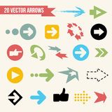 Collection of Vector Arrows Royalty Free Stock Photo