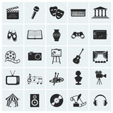Collection of vector arts icons. Collection of 25 arts and creative icons. Vector illustration Royalty Free Stock Photography