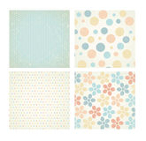 Collection of vector backgrounds in retro style. Royalty Free Stock Photo