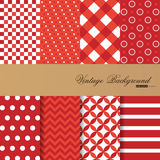 Collection of 8 vector backgrounds in vintage style Stock Images