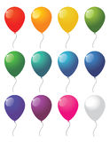 Collection of vector balloons Royalty Free Stock Photos