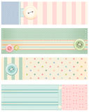 Collection of vector banners in retro style royalty free illustration