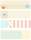 Collection of vector banners in retro style Royalty Free Stock Photos