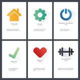 Collection of vector blank shapes. Royalty Free Stock Image