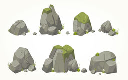 Collection of vector boulders Royalty Free Stock Photo
