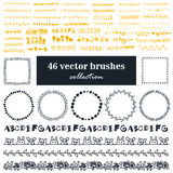 Collection of vector brushes Royalty Free Stock Photography