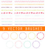 Collection of vector brushes Stock Images