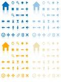 Collection of vector buttons. Stock Photos