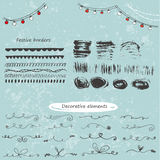 Collection of vector calligraphic elements Royalty Free Stock Photos