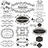 Collection of vector calligraphic elements for design royalty free illustration