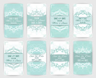 Collection of vector card templates with geometric ornament Stock Photography