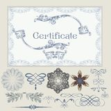 Collection of vector certificate elements Stock Photo