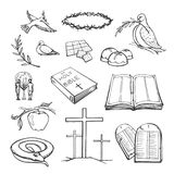 Vector collection of Christianity symbols royalty free stock image