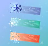 Collection of vector Christmas  banners. Royalty Free Stock Photo