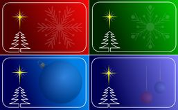 Collection of vector christmas cards Royalty Free Stock Image
