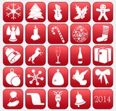 Collection of vector Christmas icons Stock Images