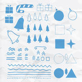 Collection of vector Christmas illustrations Royalty Free Stock Photo