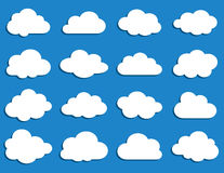 Collection of vector clouds Royalty Free Stock Image