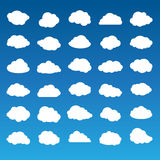 Collection of vector clouds Stock Photography