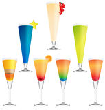 Collection of vector cocktails Royalty Free Stock Image