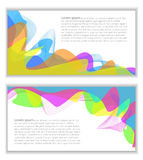 Collection of Vector colorful backgrounds Royalty Free Stock Photos