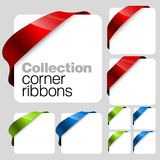 Collection of Vector corner ribbons Stock Images