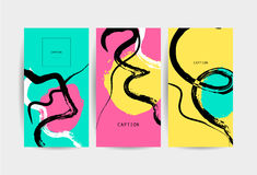 Collection of vector creative artistic cards. Royalty Free Stock Photography