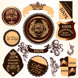 Collection of vector decorative badges and labels with swirls Stock Photo