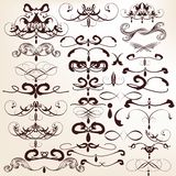 Collection of vector decorative flourishes for design Royalty Free Stock Image