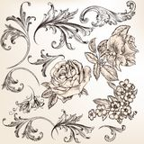 Collection of vector decorative flourishes for design Royalty Free Stock Photo