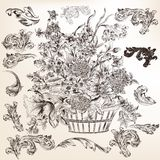 Collection of vector decorative flourishes and swirls for design Royalty Free Stock Photo