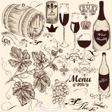 Collection of vector decorative hand drawn Royalty Free Stock Photo