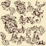 Collection of vector decorative swirls for design Stock Photo