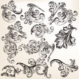 Collection of vector decorative vintage swirls for design Royalty Free Stock Photography