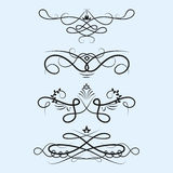 Collection of vector dividers calligraphic style vintage border frame design decorative illustration. Stock Photos