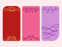 Collection of vector dividers cards calligraphic vintage border frame design decorative illustration. Royalty Free Stock Image