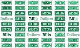 Collection of vector dollars, abstract banknotes Stock Images