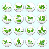 Collection of vector eco buttons Royalty Free Stock Photo