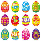 Collection of vector eggs Stock Images