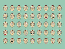Collection of vector emotion face smile. Collection of vector emotion face on paper royalty free illustration